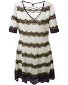 M Missoni Striped Knitted Dress - Lyst