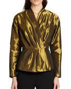 Lafayette 148 New York Delphi Metallic Wrap Jacket - Lyst