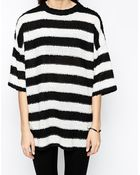 Monki Kimono Sleeve Stripe Sweater - Lyst