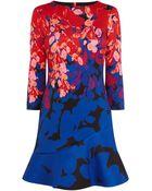 Karen Millen Floral Print Scuba Dress - Lyst