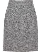 Dolce & Gabbana Tweed Mini Skirt - Lyst