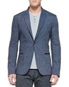 John Varvatos One-Button Jacket W/ Peaked Lapels - Lyst