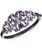 Givenchy Light Hematite-Tone Purple Large Bangle Bracelet - Lyst
