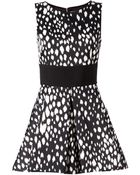 Fausto Puglisi Flared Printed Sleeveless Dress - Lyst