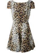 RED Valentino Leopard Print Dress - Lyst