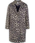 Iris & Ink Tallulah Leopard-Jacquard Coat - Lyst