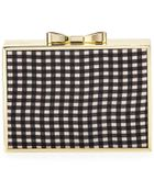 Betsey Johnson Gingham Bow Frame Evening Clutch - Lyst