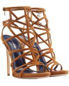 DSquared² Suede Stiletto Sandals - Lyst