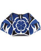Alexander McQueen De-Manta Floral-Print Clutch Bag - Lyst