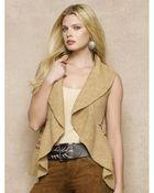 Ralph Lauren Blue Label Multi-Knit Shawl-Collar Vest - Lyst