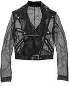 Christopher Kane Organza Biker Jacket - Lyst