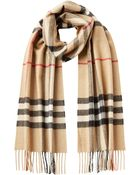 Burberry Cashmere Giant Check Scarf - Lyst