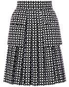 Alexander McQueen Bonded Laser-Cut Cotton Skirt - Lyst