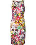 Etro Hibiscus Print Beach Dress - Lyst