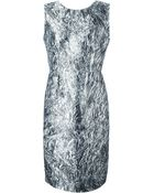 McQ by Alexander McQueen Foil-Print Dress - Lyst
