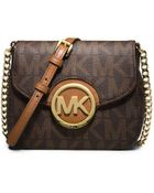 Michael Kors Fulton Logo Small Crossbody - Lyst