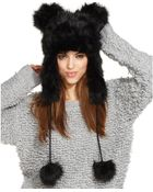 Betsey Johnson Faux Fur Trapper Hat with Ears - Lyst