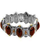 Konstantino Sterling Silver Cognac Bracelet With 18 Karat Gold - Lyst