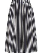J.Crew Catalpa Striped Crepe De Chine Midi Skirt - Lyst