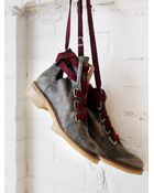 Free People Womens Jenning Lace Up Boot - Lyst