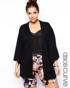 Asos Curve Exclusive Kimono Top In Jersey - Lyst