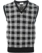 Saint Laurent Knit Sleeveless Sweater - Lyst