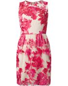 Notte by Marchesa Floral-Embroidered Dress - Lyst