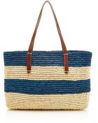 Sensi Studio Striped Rectangular Straw Tote - Lyst