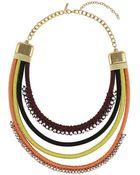 Topshop Thread Wrap Collar - Lyst