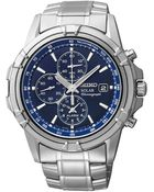 Seiko Mens Stainless Steel Solar Chronograph Watch - Lyst