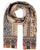 Etro Wool-Silk Paisley Print Scarf - Lyst