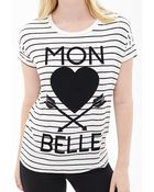 Forever 21 Mon Belle Graphic Tee - Lyst