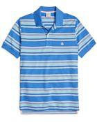 Brooks Brothers Slim Fit Multi Bar Stripe Polo Shirt - Lyst