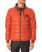 C P Company Down Jacket Quilted Lined Red - Lyst