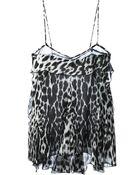 Roberto Cavalli Leopard Print Top - Lyst