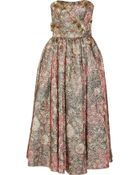 Notte By Marchesa Embellished Metallic Brocade Gown - Lyst