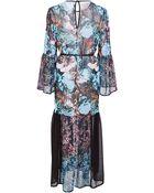 Clover Canyon Floral Sunset Chiffon Dress - Lyst