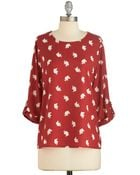 Everly Clothing Zoom Bisou Top In Red Elephants - Lyst