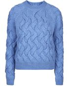 Topshop Chunky Cable Knit Jumper By Boutique - Lyst