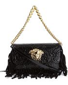 Versace Medusa Fringed Shoulder Bag - Lyst