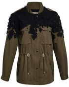 Sea Embroidered Flowers Military Jacket - Lyst