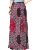 MICHAEL Michael Kors Pleated Bandanaprint Maxi Skirt - Lyst