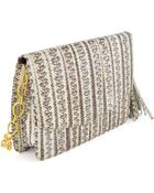 Armenta Watersnake Tassel Box Clutch Bag - Lyst