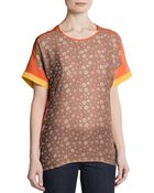 Sachin & Babi Dotted Print Short-Sleeve Top - Lyst