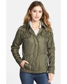 Vince Camuto Quilt Trim Hooded Anorak - Lyst