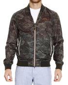 Armani Jeans Down Jacket Jacket Bomber Nylon Reversible - Lyst