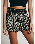 Free People Womens Silver Lace Soft Short - Lyst