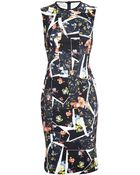 Erdem Nell Floral Bodycon Dress - Lyst