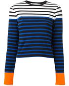 T By Alexander Wang Striped Knitted Top - Lyst