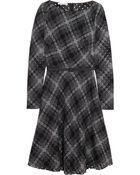 Oscar de la Renta Open-Weave Wool-Blend Dress - Lyst